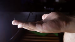 Man Hands Opening A Blister Pack And Taking A Pill, Drugs, Medical Side Shot Stock Footage