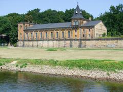 Stock Photo of historic building at river elbe