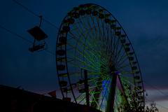 Ferris wheel by night at an amusement park Kuvituskuvat
