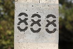 eighthundred an eighty-eight - stock photo