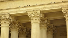 Columns of kazan cathedral in st. petersburg, russia close up Stock Footage