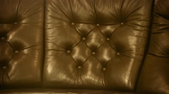 Leather upholstery of old classic furniture Stock Footage