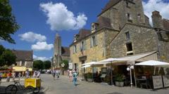 Place de la Halle - Domme France - HD 4K+ Stock Footage