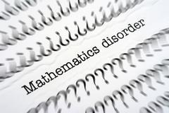 Mathematic disorder Stock Photos