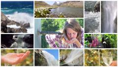 A water poetry montage Stock Footage