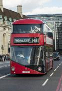 new bus for london - stock photo