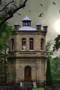 gothic chapel - stock photo