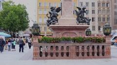 Munich statue Stock Footage