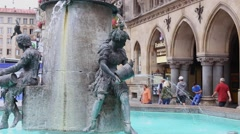 Fountain in Munich - stock footage