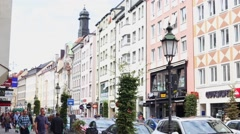 Busy Munich street (4 of 4) Stock Footage