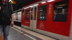 Subway in Munich (4 of 5) Stock Footage