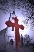 Evil cross Stock Photos