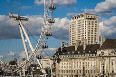 Stock Photo of london eye from westminster