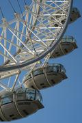 Stock Photo of details of the london eye