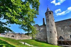 medieval castle - stock photo