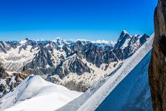 View on the alps from the aiguille du midi , chamonix. Stock Photos