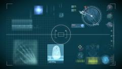 Futuristic control panel and scifi controls Stock Footage
