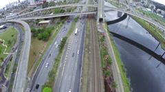 Traffic in Sao Paulo, Brazil Stock Footage