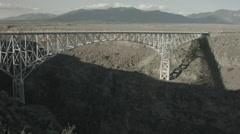 Steel rio grande gorge bridge taos nm Stock Footage