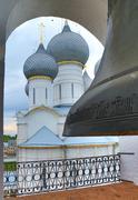 big bell in belfry of rostov kremlin - stock photo