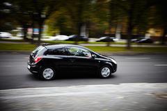 car moving fast black - stock photo