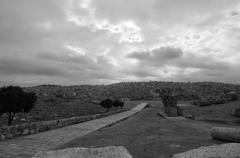 Roman ruins of the citadel - amman, jordan Stock Photos