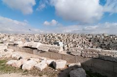 Stock Photo of roman ruins of the citadel - amman, jordan