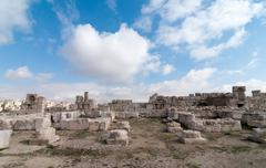 Roman ruins of the citadel - amman, jordan Stock Photos