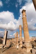 Ruins of jerash, jordan Stock Photos