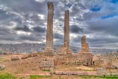 temple of hercules - amman, jordan - stock photo