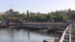 The ship breeds bridge. Stock Footage