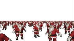 Dancing Santa Claus Crowd Loop Stock Footage