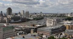 UltraHD 4K London Establishing Shot Aerial View Panoramic Urban Scene Busy City Stock Footage