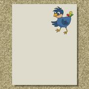 bird writing paper knit texture background - stock illustration