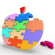 Puzzle Apple Stock Illustration