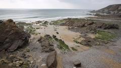 Gunwalloe beach Cornwall England UK on the Lizard Peninsula Stock Footage