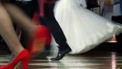 Feet Of Dancing People Stock Footage