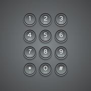 Vector modern phone keypad background Stock Illustration