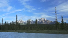 Time lapse of mountain range in Jasper National Park. Stock Footage