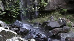 A waterfall in a lush rainforest Stock Footage