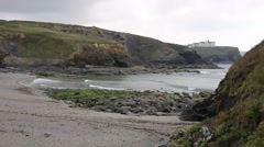 Church Cove near Gunwalloe Cornwall England UK on the Lizard Peninsula Stock Footage
