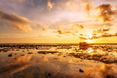 sunset ebb - stock photo