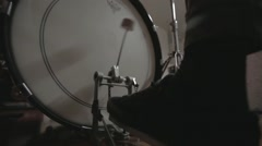 Drum clip collection - Bass drum - foot action Stock Footage