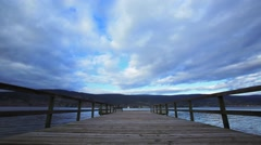 Time lapse of dock on Lake Okanagan B.C. Stock Footage