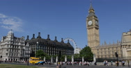 Stock Video Footage of Ultra HD 4K Traffic Jam Car Passing Parliament Square London Busy Crowded Street