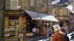 Sarlat la Caneda - France Stock Footage