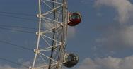Stock Video Footage of UltraHD 4K Closeup Landmark London Eye Tourist Attraction Establishing Shot UK