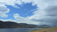 Time lapse of rolling hills and lake near Penticton B.C. Stock Footage