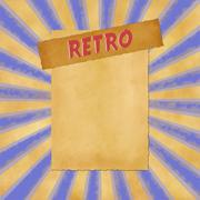 retro sign on blue dark vintage background - stock illustration