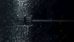 Water spun and making splash, Slow Motion Stock Footage